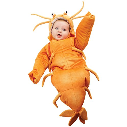 Underwraps Costumes Baby's Shrimp Bunting, Orange, (Under The Sea Baby Costumes)
