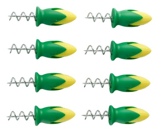 Tovolo Twist-Lock Corn Holders - Set of - 8 Cob Holders Corn