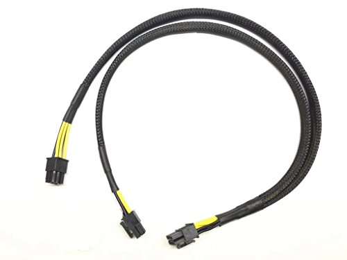 LODFIBER 10pin to 6+6pin Power Cable for HP DL380 G8 and NVIDIA Quadro K6000 GPU 50cm