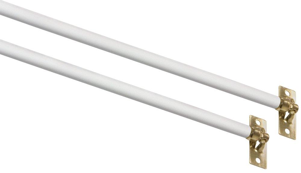 Kenney Mfg 11-19 5/16 Swivel End White Sash Curtain Rod 2 Pack KN639/1