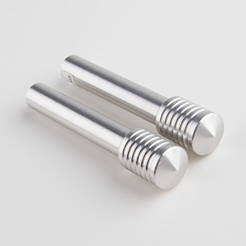 Carmate BF12 BIllet JDM Door Lock Knobs - Brushed Aluminum 'Bady's Factory' (Billet Door Lock Knobs)