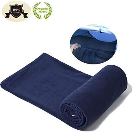 E-Onfoot Warm Cozy Microfiber Fleece Zippered Sleeping Bag Liners