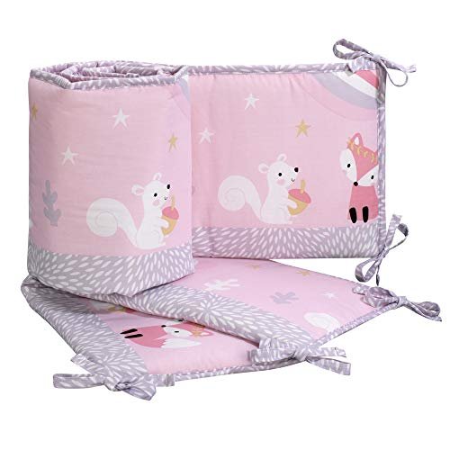 (Bedtime Originals Rainbow Unicorn 4-Piece Crib Bumper, Pink)