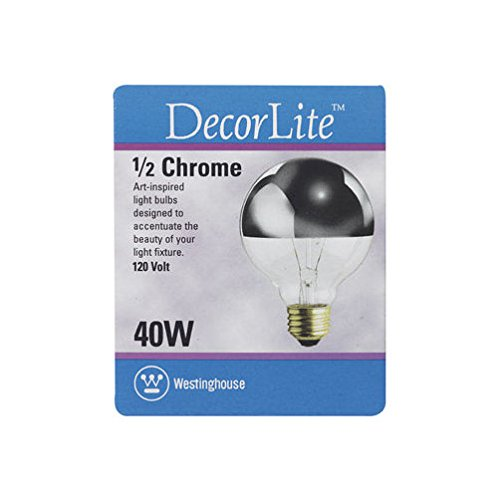 - Westinghouse Half Chrome Globe Bulb Unlensed 40 W G25 E26 Medium Base 4-3/8 In. Carded