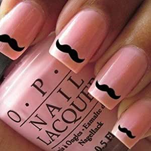 60x movember nail wraps art cute little black moustache nail decals 24hr dispatch. Black Bedroom Furniture Sets. Home Design Ideas