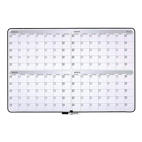 Quartet Whiteboard Planner, 4-Month Planning White Board, 23
