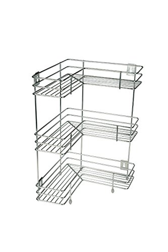 KCL L Shape Stainless Steel Multipurpose Corner Kitchen Storage Rack/Shelf  3 Level Shelf   1 Unit