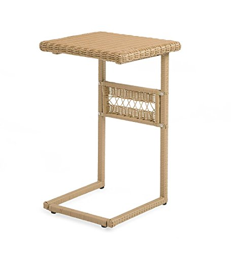 Easy Care Resin Wicker Pull Up Table 18 sq. x 26 H Natural price