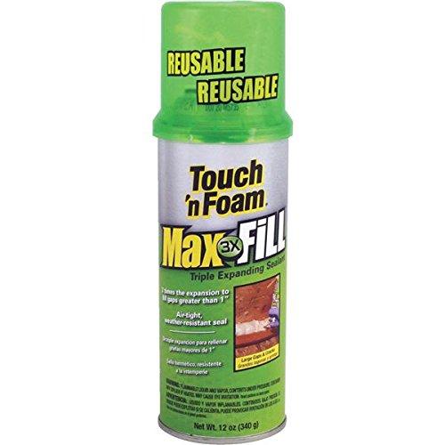 - Touch 'n Foam 4001031212 MaxFill Maximum Expanding Sealant, 12Oz, Tan