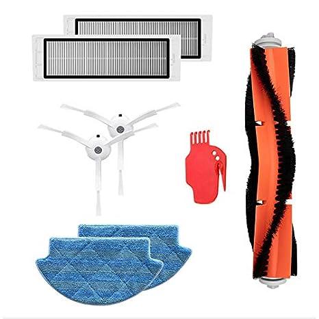 TOOGOO Kit de Piezas de Repuesto para Aspiradoras para Xiaomi Robot Aspiradora Filtro Hepa Cepillo de Rodillo Herramienta Fregonas de Limpieza Cepillo ...