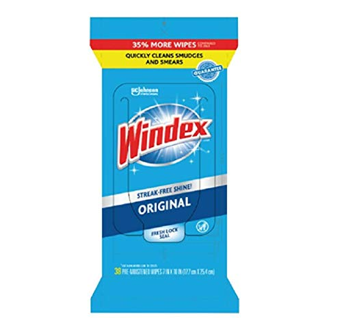 SC JOHNSON WIPES GLASS WINDEX 38 COUNT