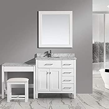 Design Element London Single Sink Vanity Set With One Make