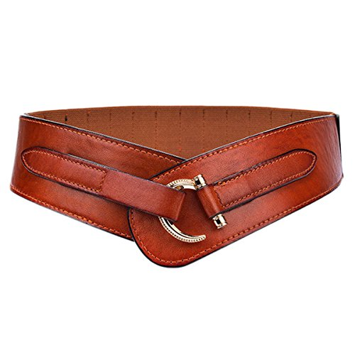 [해외]Womtop Woman Belts 여성용 빈티지 와이드 벨트 Retro Buckle Elastic 허리 벨트 신 치크/Womtop Woman Belts Vintage Wide Belt for Women Retro Buckle Elastic Waist Belt Cinch