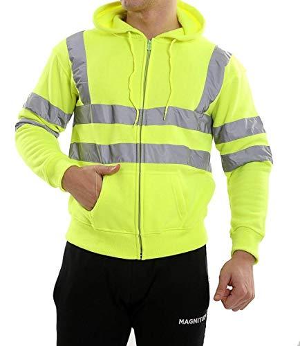 Forever High Visibility Hi Vis Safety Hooded Sweatshirt Top ()
