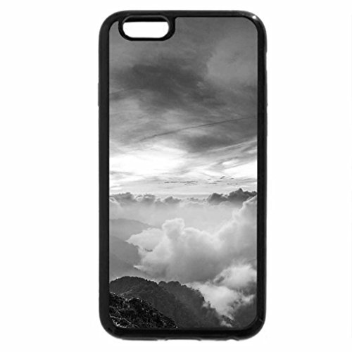 iPhone 6S Plus Case, iPhone 6 Plus Case (Black & White) - outstanding cloudy valley