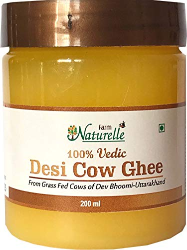 Farm Naturelle Desi Cow Ghee - 100 % Pure Ghee From A2 Milk - 200 ML (6.76oz) -  7108323673284