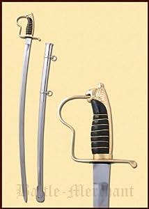 Preußischer Offizierssäbel aus Stahl mit Löwenkopfgriff aus Messing