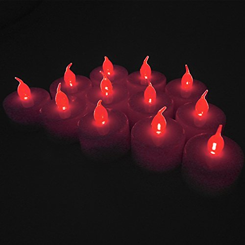 Red Led Candle Light