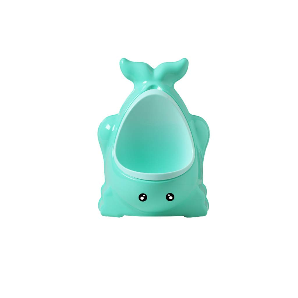 Urinal Cute Whale Children Wall-Mounted boy Bucket boy Standing Pool can Automatically urinate Easy to Clean (Blue) by Urinal
