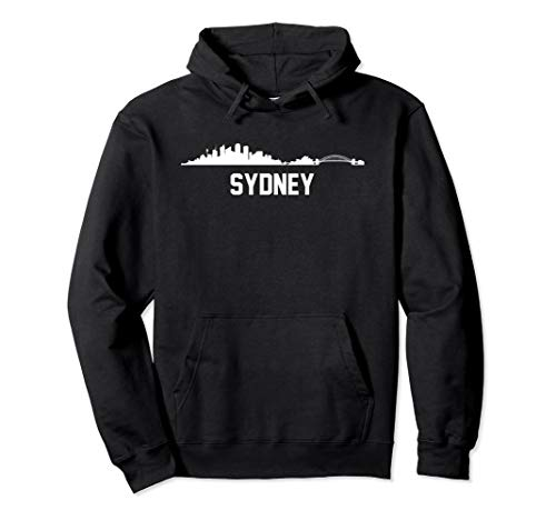 Sydney Australia Skyline Cityscape Hoodie (Map Of Sydney Australia And Surrounding Area)