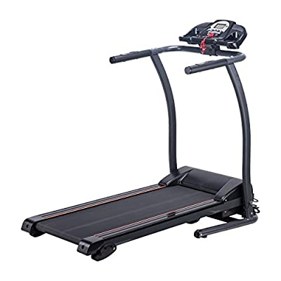 Pinty Folding Home Running Machine Wide Incline Treadmill with LED Display, MP3 Player USB Compatible, Ermergency Stop, Calories Burned Tracker, Miles Track, BMI Calculator