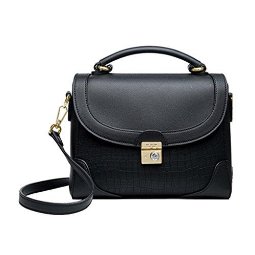 Bolso Ms Fashion Shoulder Crossbody Mini Cuero PU Negro