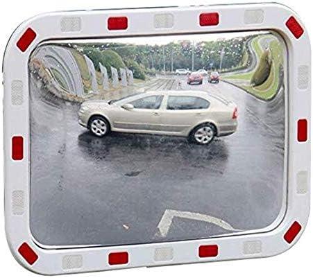 Geng カーブミラー 盗難防止ミラー、40×60cmの屋内と屋外、交通交差点衝突防止安全ミラー
