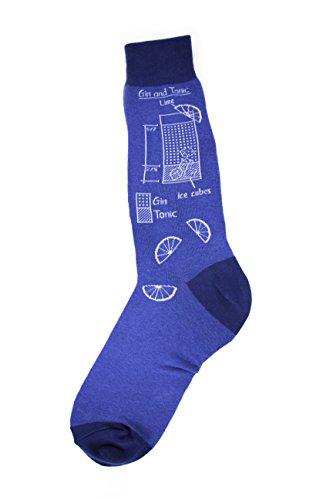 Price comparison product image Foot Traffic - Men's Beverage-Themed Socks, Mixology (Shoe Sizes 7-12)