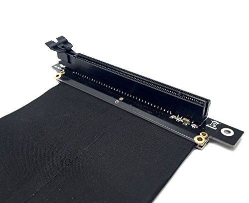 EZDIY-FAB NEW PCI Express PCIe3.0 16x Flexible Cable Card Extension Port Adapter High Speed Riser Card (20cm-90 degrees) (Card Riser Pci)