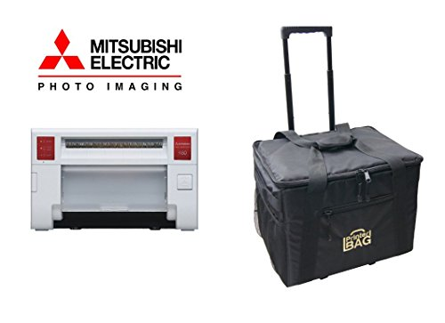 Mitsubishi CP-K60DW-S Photo Printer - BUNDLE - with our ROLLING CARRYING CASE. by Mitsubishi Electric