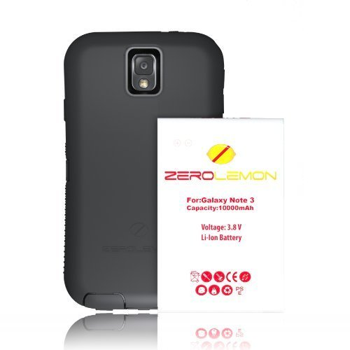 Zerolemon Samsung Galaxy Note 3 10000mah Extended Battery w