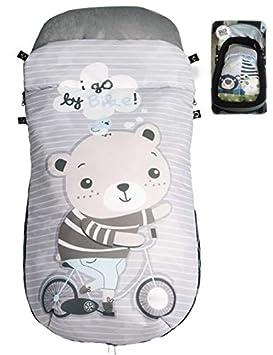 Saco Capazo/Cuco/Coche/Cochecito/Carrito/Carro Primavera Verano Entretiempo Impermeable Universal MOD17 (Bonus Llavero Baby Groot): Amazon.es: Bebé