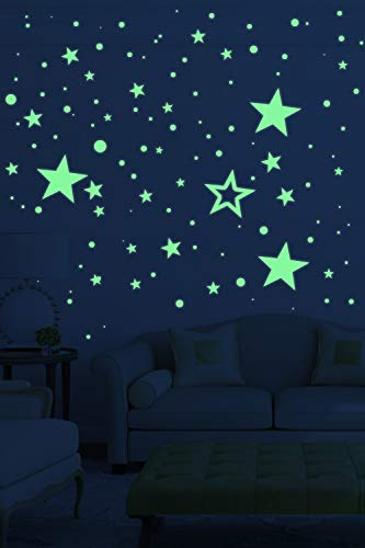 selbstklebend f/ür Sternenhimmel 435 Fluoreszierend sticker JMITHA sternenhimmel aufkleber selbstklebend fluoreszierend Leuchtaufkleber f/ür Kinderzimmer Leuchtsticker Wandtattoo