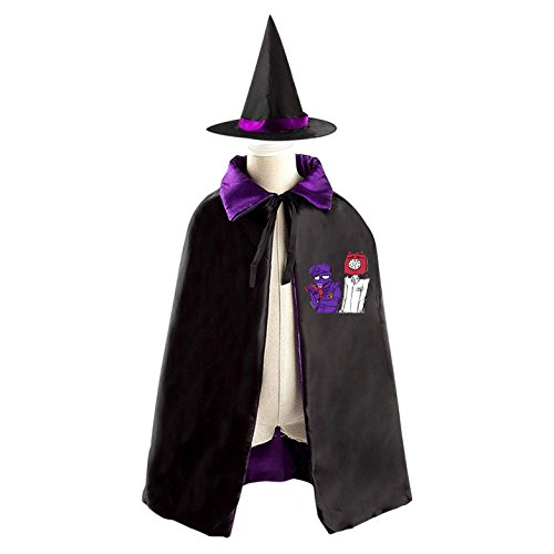 Samus Costume (Halloween Costumes Witch Phone Guy and Purple Guy Wizard Reversible Cloak With Hat Kids Boys Girls)