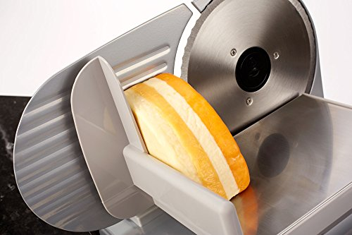 -[ Andrew James Food Slicer Electric Precision 19cm Blade   Includes 2 Extra Blades For Bread and M