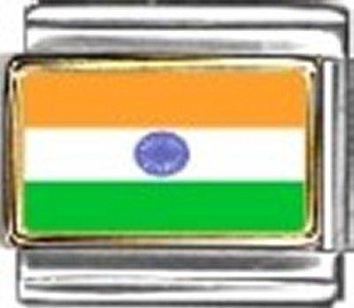 India Photo Flag Italian Charm Bracelet Jewelry - 9mm Charm Photo Italian New