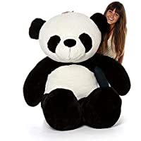 HUG 'n' FEEL SOFT TOYS Long Soft Lovable hugable Cute Giant Life Size Teddy Bear (4 Feet, Panda)