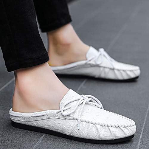 メンズ シューズ スリッポン ローファー おしゃれ 通勤 カジュアル スリッパ 歩きやすい かかとなし オフィスサンダル リボンサンダル スムース ラウンドトゥ トレンド 靴 イギリス風 ドライビングシューズ