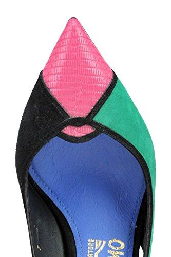 Suède Salvatore MCGLCAT03110E Multicolore Femme Ferragamo Escarpins rqxZRrw0