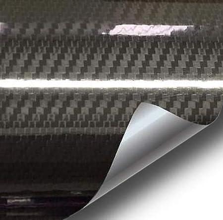 VViViD Epoxy High Gloss Carbon Fiber Automotive Vinyl Wrap Grey, 1.5ft x 5ft