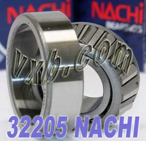 Nachi 32205 Tapered Roller Bearing Cone and Cup Set, Single Row, Metric, 25mm ID, 52mm OD, 18mm Width