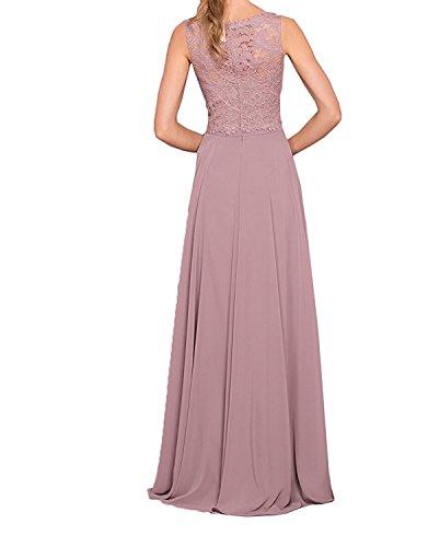 Promkleider Marie Braut Chiffon Abschlussballkleider Royal Damen Brautmutterkleider Lang Abendkleider Spitze La Blau Traube H6BZw6x