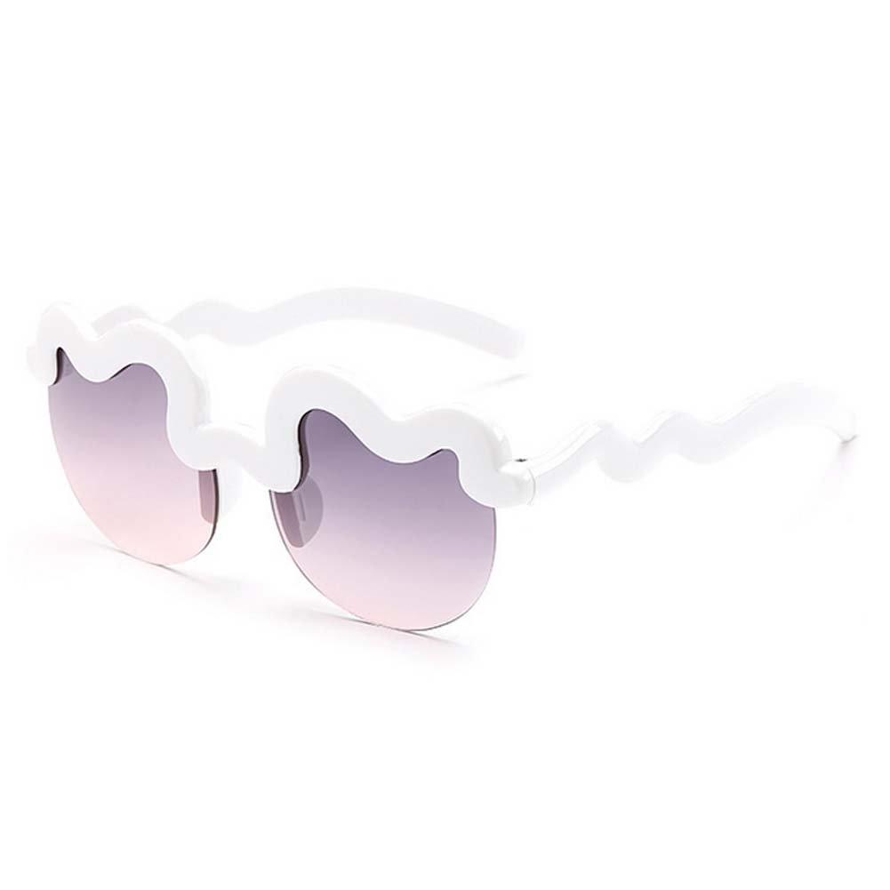 My.Monkey Age 3-10 Kids Childrens Summer UV Protection Fashion Personality Sunglasses(White)