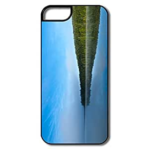 IPhone 5S Cases, Lake Scenery Cases For IPhone 5S - White/black Hard Plastic