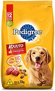 Ração Para Cachorros Pedigree Carne Frango e Cereais Adultos Raças Médias e Grandes 20kg