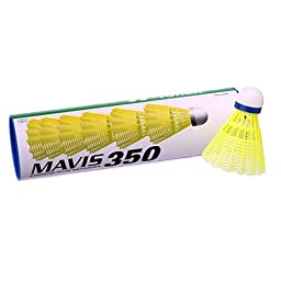 Yonex Mavis 350 Plastic Shuttlecocks Yellow-Slow Speed(6 pcs)