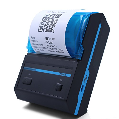 Portable Usb Printers - Milestone Thermal Printer 2inch Receipt Printer Portable Thermal Bluetooth Printer with Rechargeable Battery For Small Business, Android/IOS/Window 7/Windows 10 system