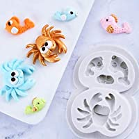 Hongsawat.jawan5612 Mermaid Candy Mold Marine Life Sea Star Seahorse Mermaid Octopus Shape Silicone Mold Candy Molds Chocolate Soft Clay Resin Molds