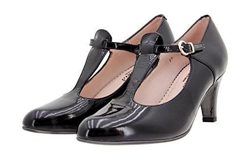 Jane Pelle Donna Con Larghezza Piesanto Tacco 9207 Nero Comfort Speciale Mary Scarpe fwYpqH1p
