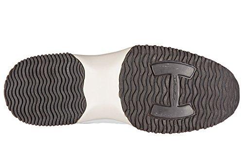 Hogan chaussures baskets sneakers homme en cuir new interactive h flock beige